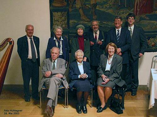 Nach dem Gründungsakt im Senatssaal der Ludwig-Maximilians-Universität München